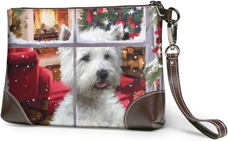 Christmas Schnauzer Clutch Kansas Virginia Beach Mall City Mall Purses Wristlet Leather Wallet