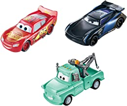 Disney and Pixar Cars Color Changers Lightning McQueen, Mater & Bobby Swift 3-Pack, Gift for Kids Age 3 Years and Older