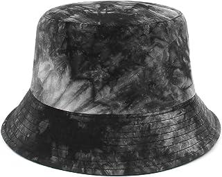 Jelord Sombrero Pescador Tie-Dye Bucket Gorro Bucket Hat Reversible Sombrero de Sol Gorras Gorros de Pescador para Hombre ...