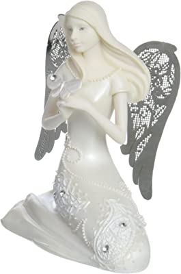Little Things Mean A Lot April Monthly Angel Figurine, 3-1/2-Inch, Includes Gemstone on Butterfly
