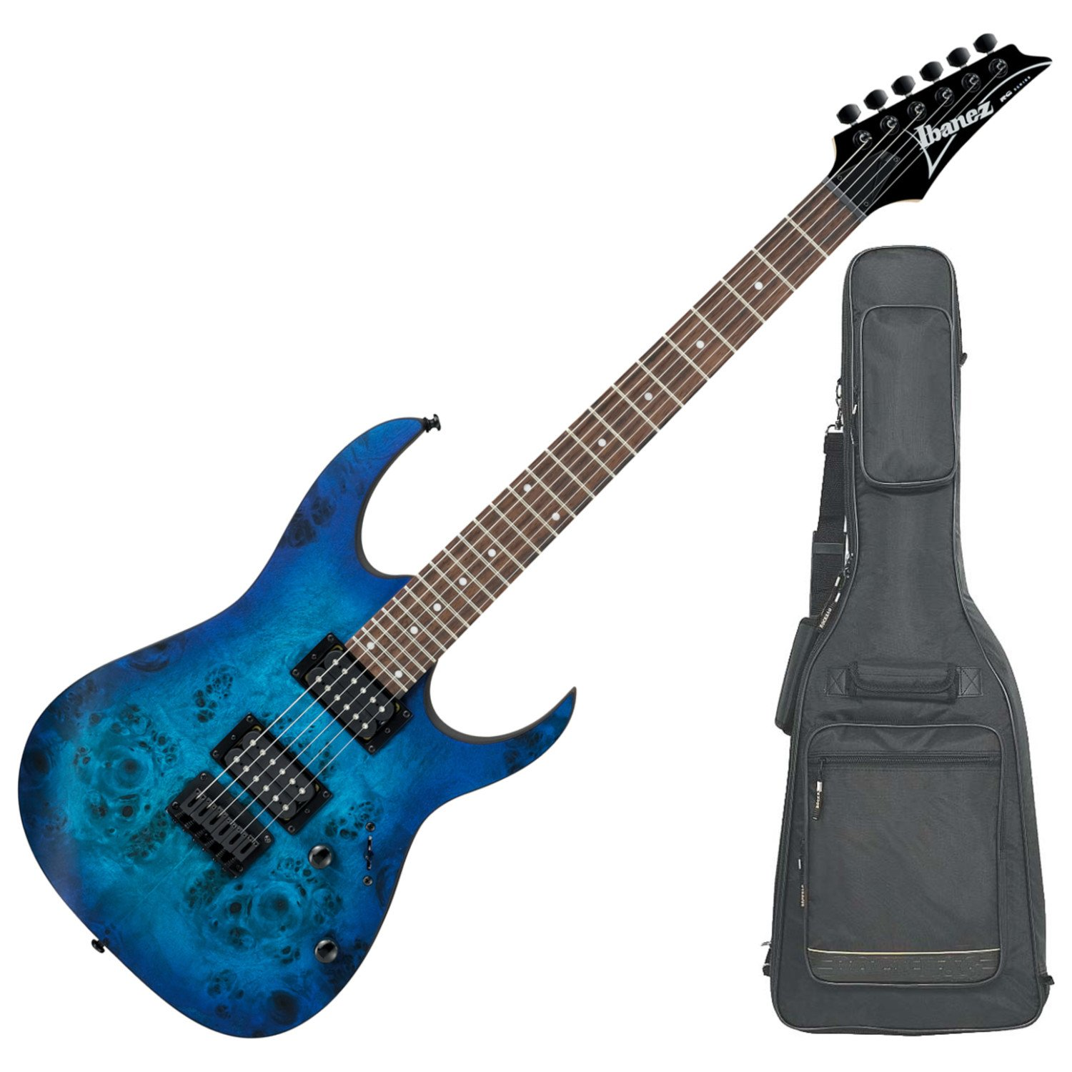 Cheap Ibanez RG421PBSBF RG HARD TAIL Series Electric Guitar (Sapphire Blue Flat) with DLX Gig Bag Black Friday & Cyber Monday 2019