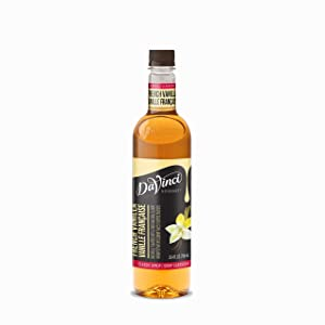 DaVinci Gourmet Classic Syrup Ounce Bottle, French Vanilla, 25.4 Fl Oz