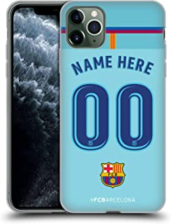 Custom Customized Personalized FC Barcelona Away 2017/18 Kit Soft Gel Case Compatible for iPhone 11 Pro Max