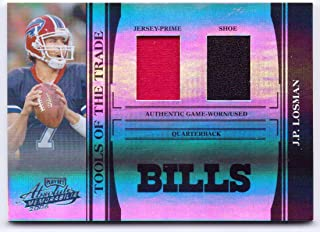 J.P. Losman 2006 Playoff Absolute Memorabilia Tools of the Trade Game Worn Jersey, Game Used Shoe #TOT-65 - 13/25 - Buffalo Bills