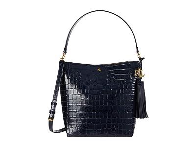 LAUREN Ralph Lauren Adley 25 Crossbody (Lauren Navy) Handbags
