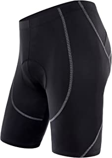 Men's Cycling Shorts 4D Coolmax Padded Bike Bicycle Pants Tights, Breathable & Absorbent