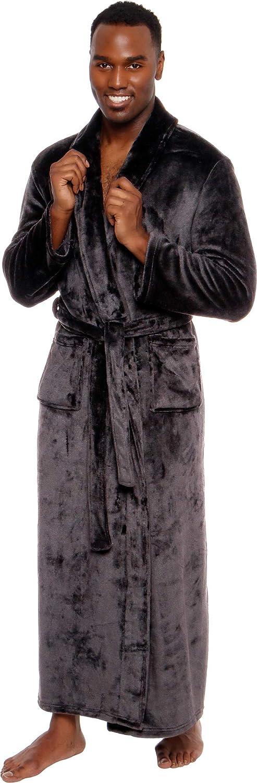 Ross Michaels Mens Max 46% OFF Robe Big Tall with Shawl - Hood Long High quality new Plush