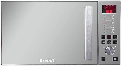 Brandt CE2646W Encimera 26L Espejo, Color blanco - Microondas (Encimera, 26 L, Botones, Giratorio, Espejo, Color blanco, 1100 W, Retirable)