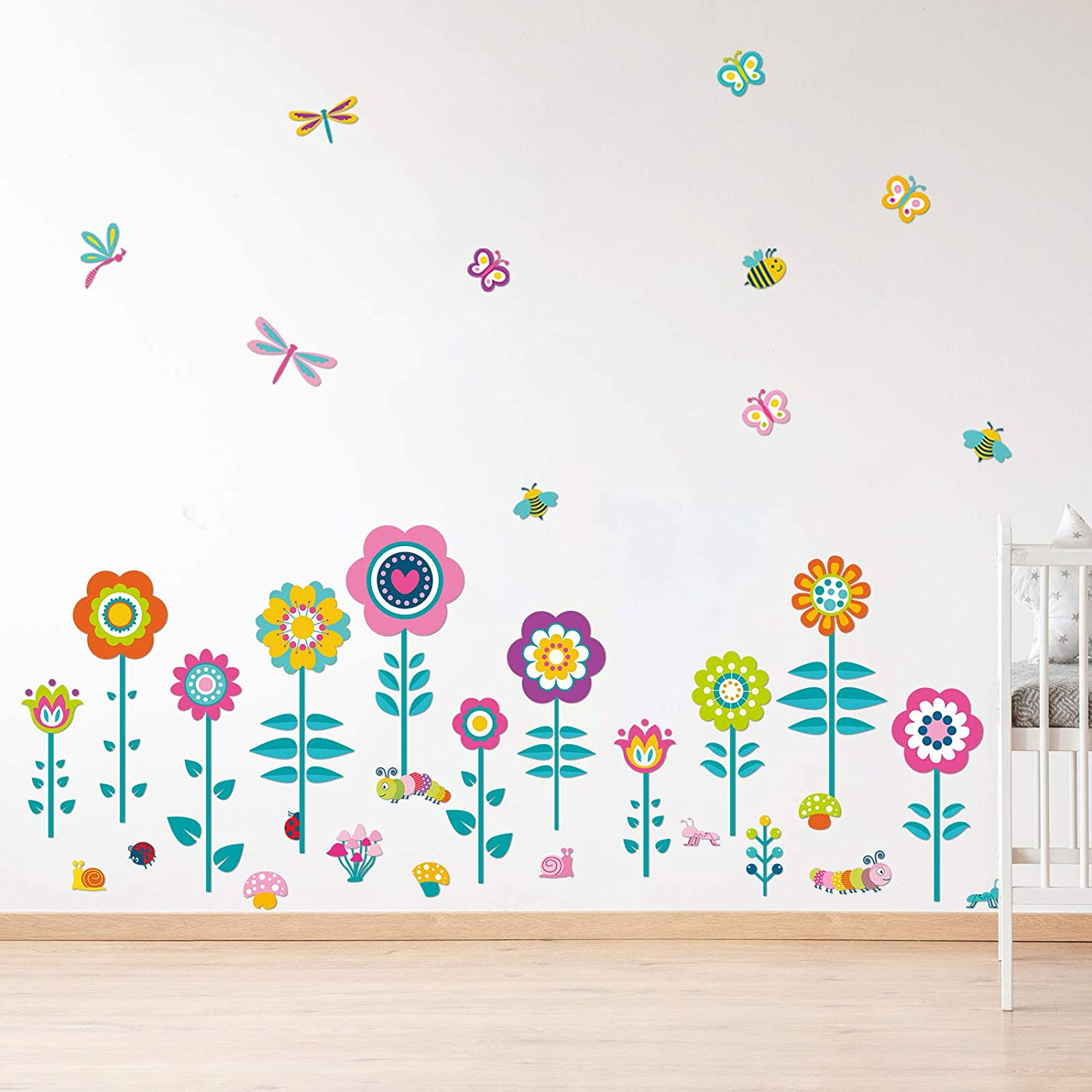 Garden Flower Wall Decals Flowers V Stick Popular brand Department store in the world and Peel Stickers