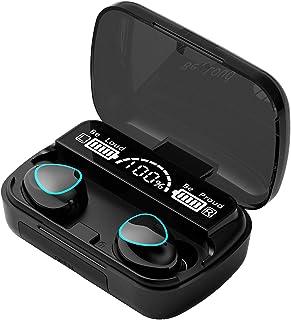 B Blesiya M10 Bluetooth 5.0 Trådlösa hörlurar med laddningsfodral IPX7 Vattentäta TWS stereohörlurar i örat inbyggt mikrof...