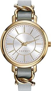 Esprit Women's Analogue Classic Quartz Watch With Leather Strap Es109342002, Beige Band