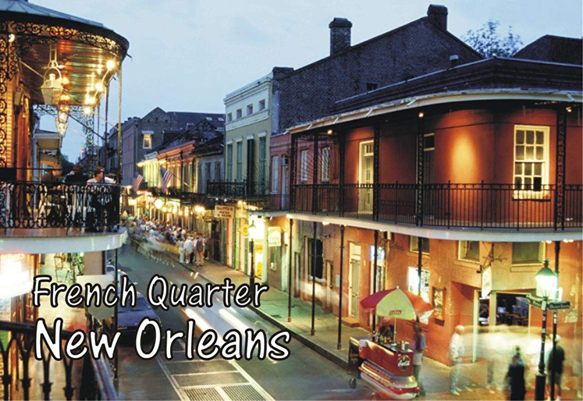 French Quarter New Orleans Louisiana Mardi Gras Souvenir Magnet 2 X 3 Fridge Photo Magnet