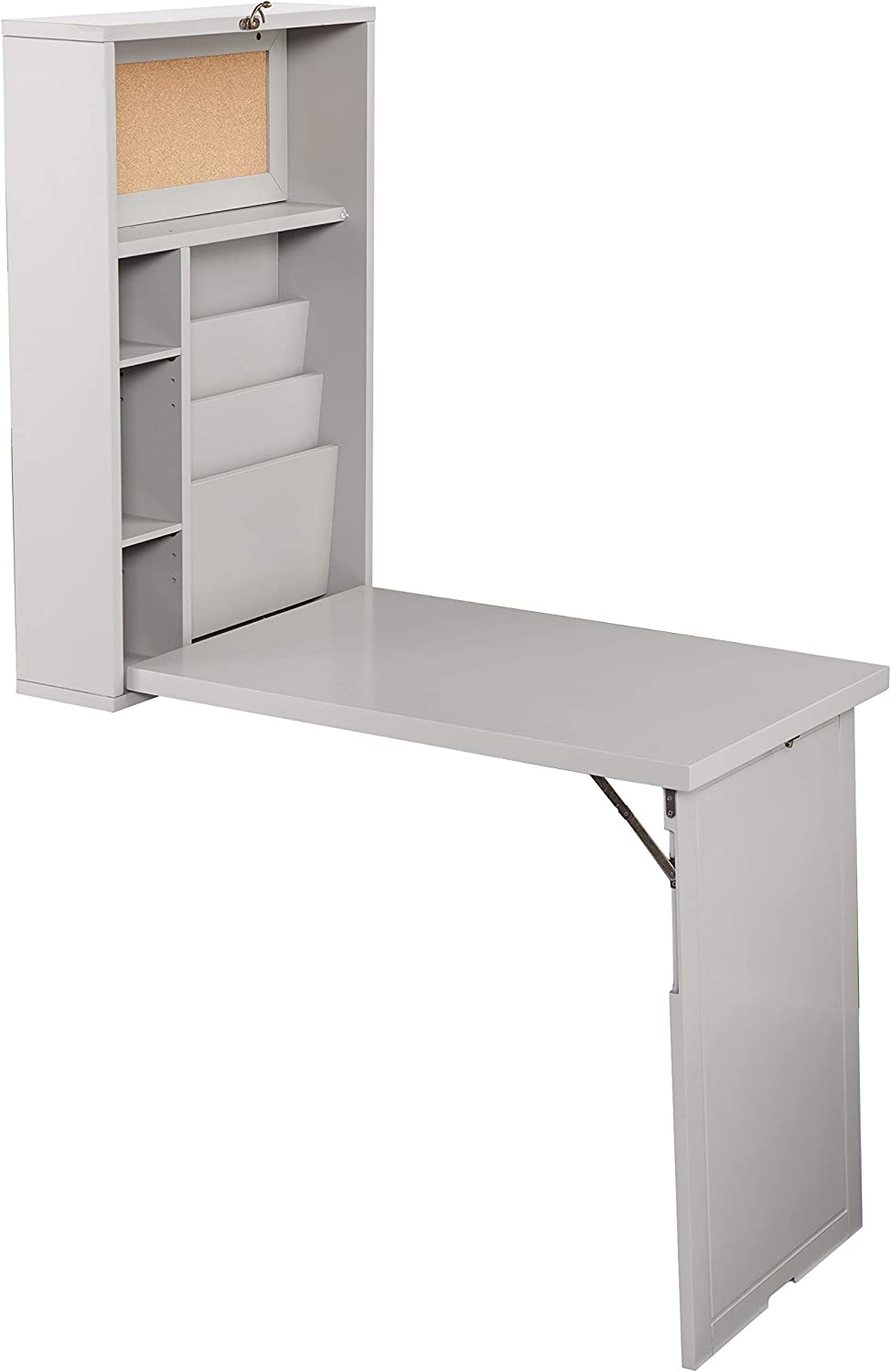 Southern Enterprises Max 67% OFF Convertible Low price Wall Mount Desk Grey