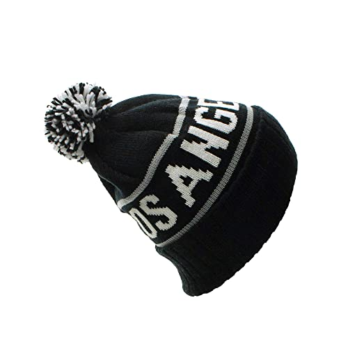 huge selection of 3c38a 9e9cf American Cities USA Favorite City Cuff Cable Knit Winter Pom Pom Beanie Hat  Cap