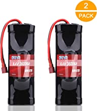 AWANFI 8.4V 3600mAh 7-Cell NiMH Hump Pack Battery with Deans Plug for Most 1/10 Scale RC Car RC Truck RC Boat Traxxas LOSI Associated HPI Kyosho Tamiya Hobby(2 Pack)