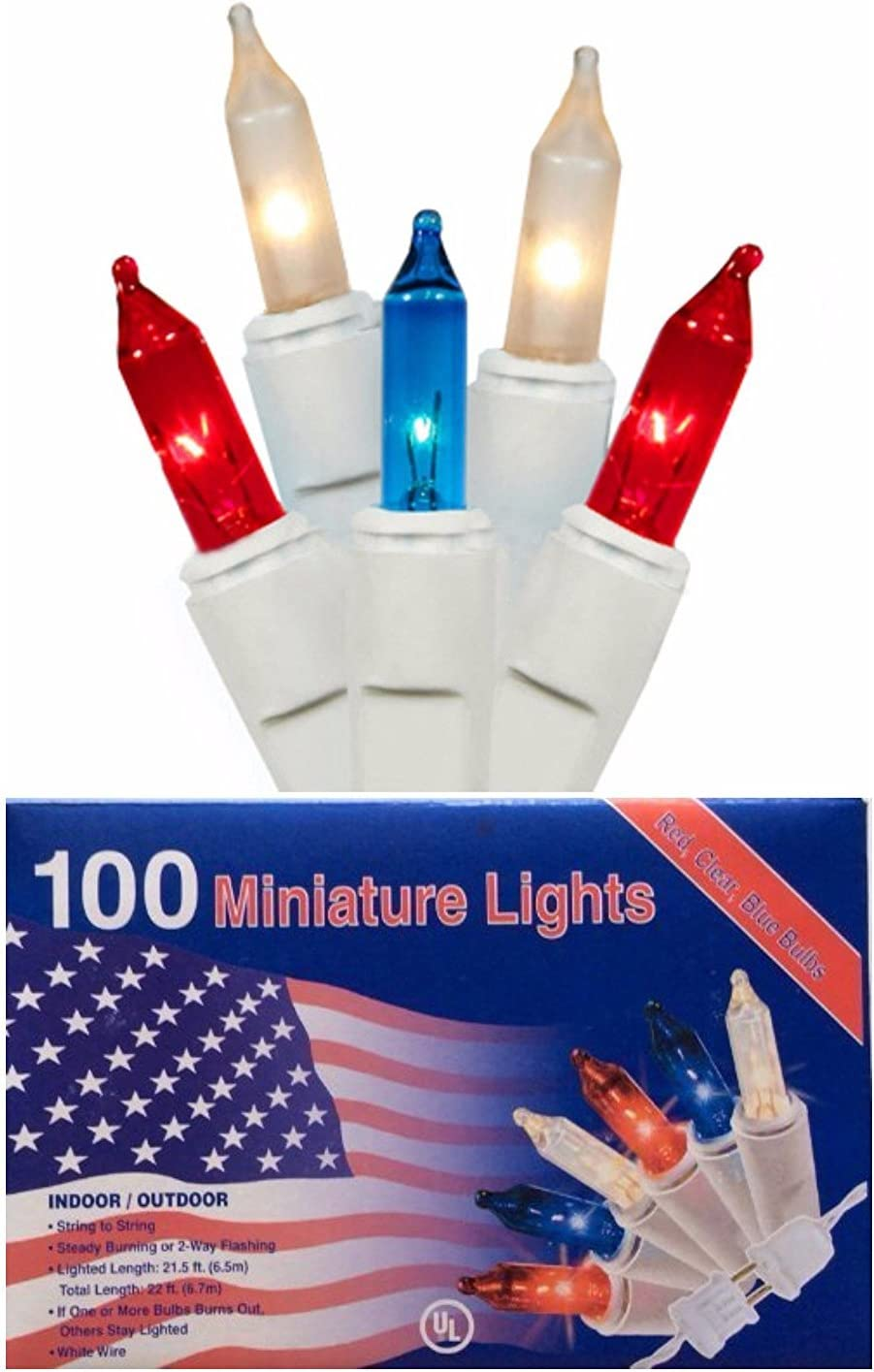 Nippon regular agency Nantucket Ranking TOP7 Home Patriotic 100 Mini Lights Indo Red White Blue and