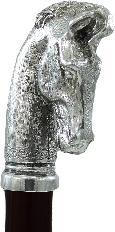 Cavagnini, Bastón de madera de haya, caballo, personalizable con grabado, regalo para abuelos