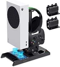 Suporte de carregador com ventilador de refrigeração para console e controlador Xbox Series S, acessórios de base de carre...