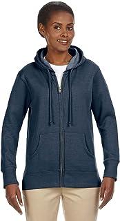 econscious 7 oz. Organic/Recycled Heathered Fleece Full-Zip Hood (EC4580)