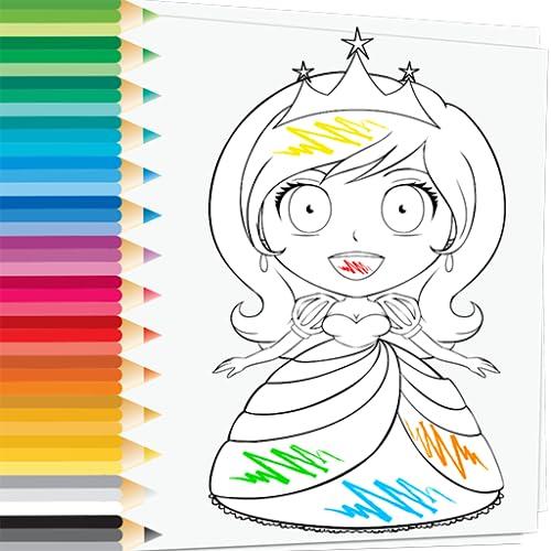 Prince & Princess Coloring Book - ¿Te encantan las hermosas princesas? Disfruta...