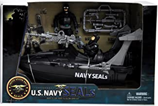 Navy Seals United States Speedboat Playset with 2 Action Figures and Weapons (Speed Boat Play Set)