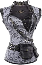 NANTE Top Women's Blouse Steampunk Goth Steel Vintage Tops Steampunk Bustiers Corsets Cosplay Clothes Halloween Clothing