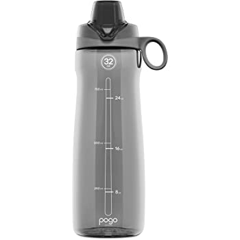 Pogo BPA-Free Plastic Water Bottle with Chug Lid, 32 oz.