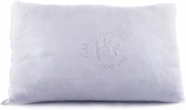 Shredded Memory Foam Pillow with Stay Cool Bamboo Cover - for Back Stomach Side Sleeper - By Good Life Essentials - Hypoallergenic and Dust Mite Resistant Hotel Collection (Queen)