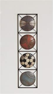 All American Collection New Modern Chic Aluminum/Metal Wall Decor with Frame 10