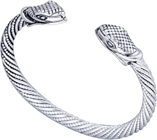 Pulsera con diseño de cabeza de serpiente vikinga, para hombres y mujeres