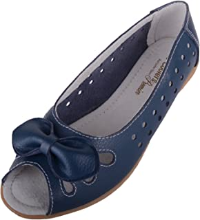ABSOLUTE FOOTWEAR Womens Casual Open Toe Leather Summer/Holiday Sandals/Shoes