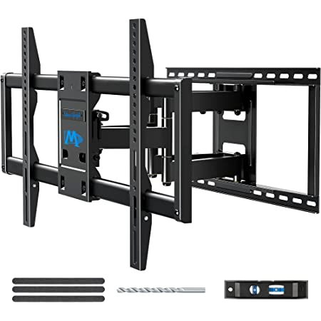 """Mounting Dream TV Wall Mount TV Bracket for Most 42-86 Inch TV, Universal Full Motion TV Mount with Articulating Arms, Max VESA 800x400mm 132 lbs. Loading, Easy to Install on 16"""" - 24"""" Studs MD2298-XL"""