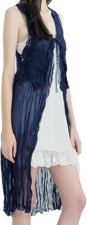 02 Collection Women's Lace Crochet Vest