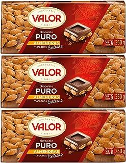 Valor - chocolate con almendras 250 gr. - [Pack de 3]