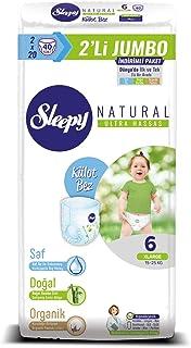 Sleepy Natural 2'li Jumbo Külot Bez, 6 Beden, XLarge, 40 Adet
