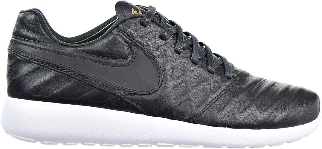 Nike Pour des hommes Roshe cravatempo VI QS noir Metallic or-blanc cuir Taille 9.5