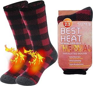 Warm Thermal Socks, Sunew Unisex Thick Insulated Heated Winter Heavy Crew Socks