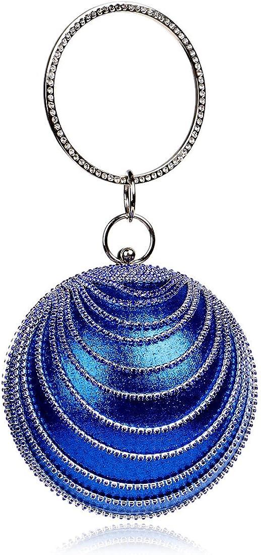 Round Clutch tassel Purse Women Crystal Evening Bag for Wedding Party Women's Ball BAG