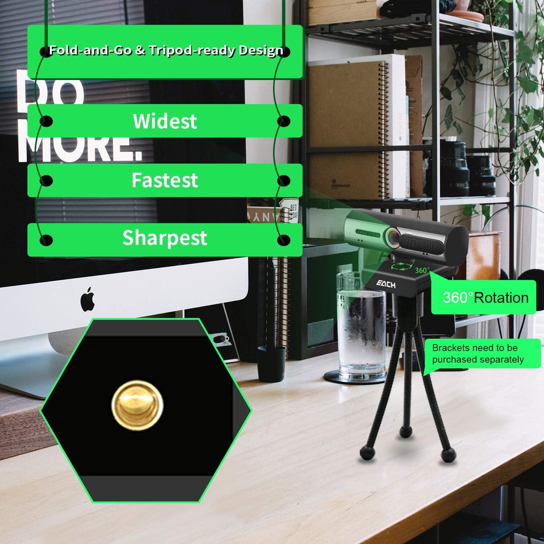 FaceTime EACH Autofocus Webcam HD 1080P Webcam CA603 USB Kamera mit Webcam Abdeckung USB Webcam f/ür Skype WebEx PC//Mac//Laptop//Macbook//Tablet Hangouts