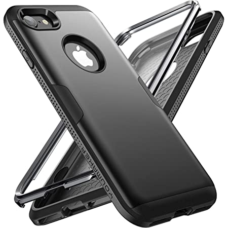 Amazon Com Youmaker Designed For Iphone 8 Case Iphone 7 Case Full Body Rugged With Built In Screen Protector Heavy Duty Protection Slim Fit Shockproof Cover For Apple Iphone 8 4 7 Inch Black