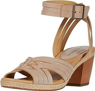 Lucky Brand Women's NOXA Heeled Sandal, Stone, 6.5