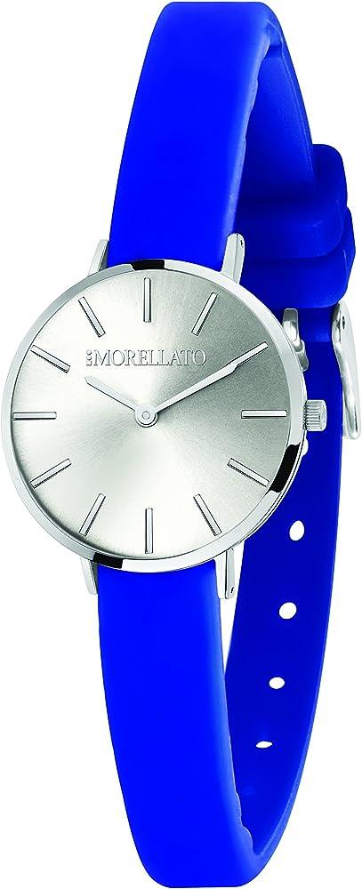Morellato, orologio analogico al quarzo per donna, con cinturino in silicone e cassa in ottone R0151152507
