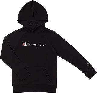 Champion Youth Heritage Fleece Sweatshirt Big and Little Girls (Black, Large)