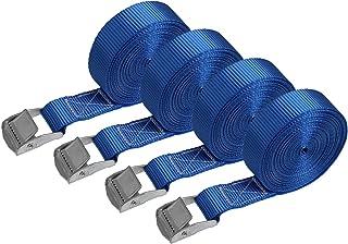 BB Sport Sjorband spanband bevestigingsband met klemgesp - draagvermogen tot 250 kg DIN EN 12195-2 ; 4 stucks 2.5 cm x 6 m