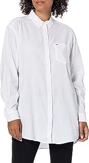 قميص طويل بقصة مريحة من تومي جينز للنساء