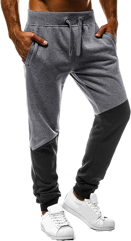 Mens Hip Hop Premium Slim Fit Pants - Street Fashion Sweatpants Ribbed Wasteband Trousers Pants with Drawstring (Small,Dark Gray)
