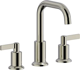 Serenade SWS02-BN Two Handle Widespread Bathroom Faucet with Plastic Pop-Up Drain and Lift Rod, Meets UPC cUPC NSF61-9 and AB1953 Lead Free Standard,Brushed Nickel