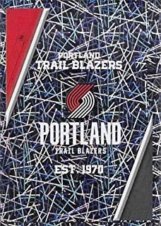 2018-19 Panini NBA Stickers Collection #348 Portland Trail Blazers Logo Foil Portland Trail Blazers Official Basketball Sticker (2 in x 2.75 in)