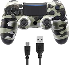Donop Wireless Controller Compatible with PS4 - Rechargable Remote Control Gamepad with Charging Cable (Grey)