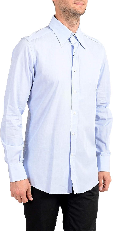 Dolce&Gabbana Men's Light Blue Long Sleeve Dress Shirt US 17.5 IT 44